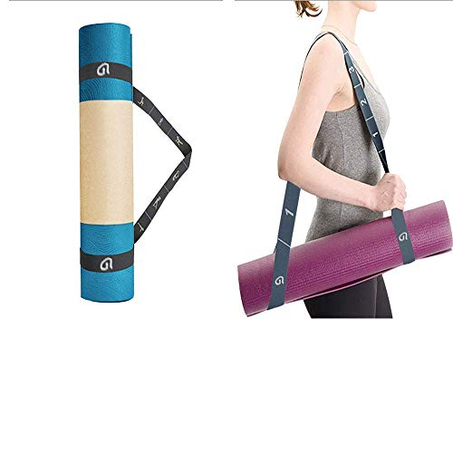 Yoga Strap, Multi-Elastic Stretch Strap, Resistance Exercise Bands, Yoga Mat Carry Strap for Physical Therapy, Pilates and Dance with Carry Bag