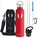 Super Sparrow Trinkflasche - 1000ml - Wasserflasche Doppelwandig Vakuum Isoliert Edelstahl - Auslaufsicher Sport Trinkflaschen