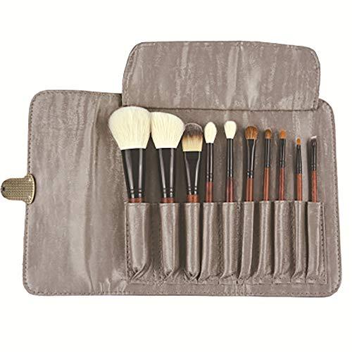 Ensemble De Pinceaux De Maquillage, 10 Pièces Pinceau De Maquillage Pinceaux De Maquillage Professionnel Pinceau De Maquillage En Laine De Haute Qualité Outils,Spadehandle