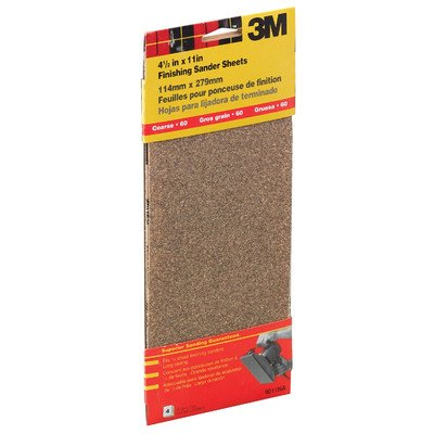 """3M 9011NA 4-1/2"""" X 11"""" Clip-On Course Finishing Sander Sheets"""
