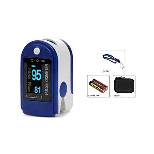 Oxímetro digital de Pulso Dedo Curva Azul Escuro 50D alta precisão