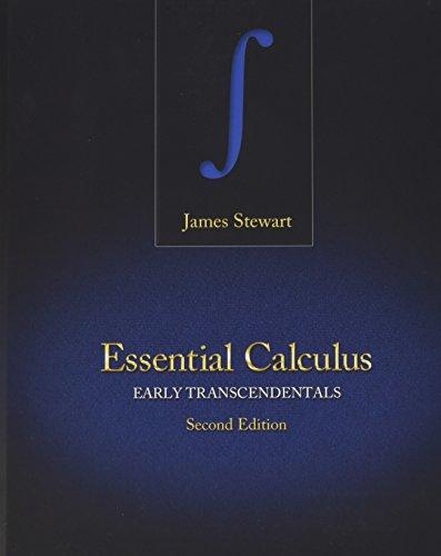 Bundle: Stewart, Essential Calculus: Early Transcendentals, 2nd (hardound) + WebAssign Printed Access Card for Stewart's Essential Calculus: Early ... Multi-Term + WebAssign - Start Smart Guide