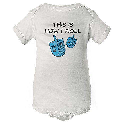 InkThread This is How I Roll - Funny Hanukkah Baby Onesie Pajamas with Sleeves
