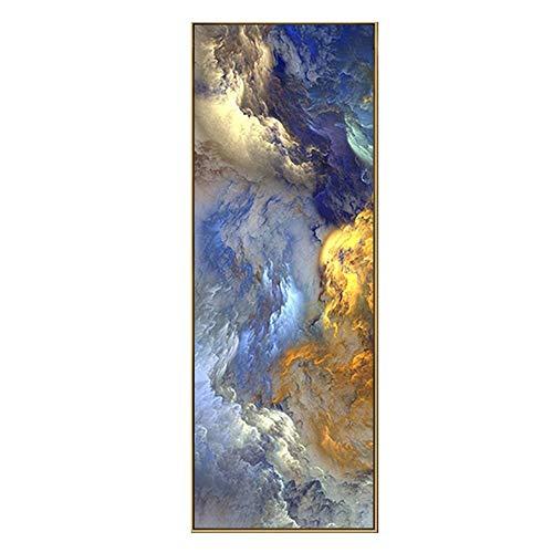 Schilderij Abstracte Kleuren Unreal Canvas Poster Blauw Landschap Muur Kunst Schilderen Woonkamer Moderne Ophangende Kunst Gedrukt Artwork