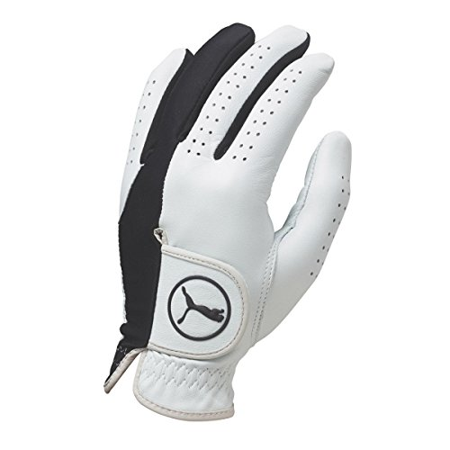 Puma Golf 2017 Pro Formation Hybrid Glove (White-Black, Cadet Small, Left Hand)