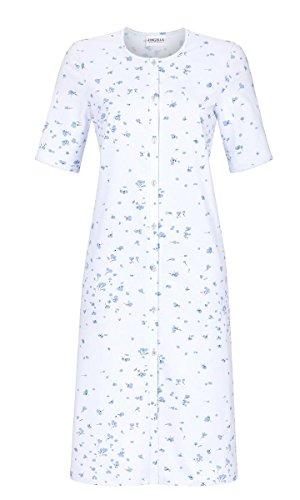 Ringella Damen Nachthemd durchgeknöpft Pastell-bleu 54 9211049, Pastell-bleu, 54