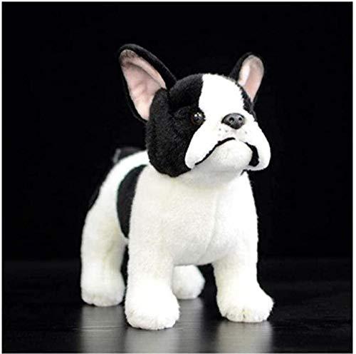 Perro Bulldog Francés Peluche Cumpleaños 26Cm Suave Perro Realista Peluche Niños Bebé