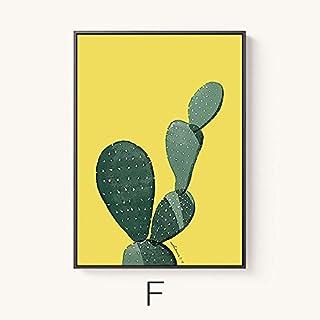 T.T-Q El Restaurante Se Cuelga Para Dibujar Cactus De Plantas Verdes. El Moderno Combina Una Creatividad. Pintura De Pared Con Fondo De Pintura De 3 Paneles. Arte De Pared De Decoración De Hogar Con Decoración De 57 Cuadros Para Sala De Estar Del Dormitorio.