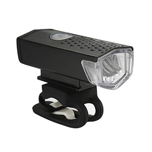 Peaches Fahrradbeleuchtung USB Wiederaufladbar 300 Lumen 800mAh IPX5 Wasserdichtes Fahrradlicht, 3-Licht-Modus Fahrradlicht, für alle Rennräder