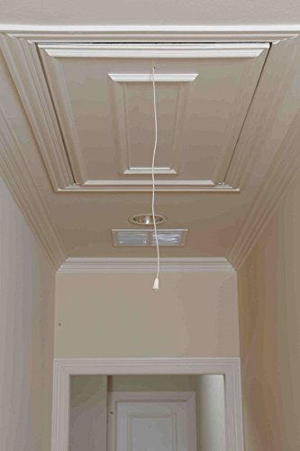 Attic Ease Pweter Rod AEPSP Ladder Pull System Kit Finish, Pewter