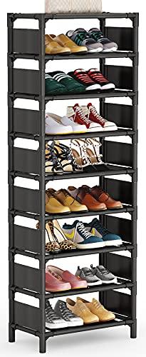 Tribesigns Vertical Shoe Rack, 8 Tiers Narrow Shoe Shelf 16 Pairs Shoe Storage Organizer Space Saving