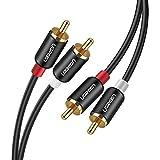 UGREEN 2RCA-2RCA オス-オス ステレオ オーディオケーブル アンプ/CDプレーヤー/スピーカー/車載オーディオ対応 ピンプラグ オーディオケーブル 2m