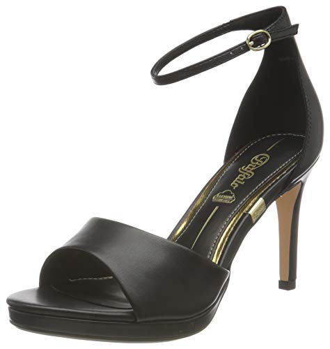 Buffalo Damen RONJA Sandale mit Absatz, BLACK, 40 EU