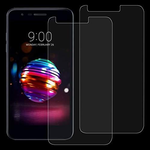 Dongdexiu Protectores de Pantalla de telefonía sólida 2 PCS 0.26 mm 9H 2.5D película Protectora de Vidrio Templado for LG K10 (2018)