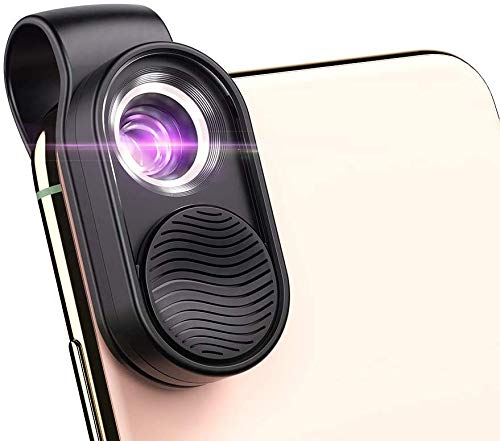 Apexel 100X Phone Microscope Mini Pocket Microscope for iPhone HD Optical Lens/Magnifying LED Light/Universal Clip Design The Best Choice to Enjoy Macrworld for Kids and Adults
