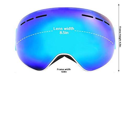 Generieke Skibril met anti-condens-magneetlenzen sferische Big Vision Skibril voor dames en heren