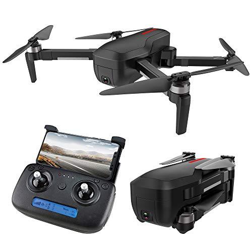 LEEPY Droni a Lunga Durata droni quadricottero Telecamera grandangolare 1080P HD Motore brushless Tracciamento del Posizionamento GPS Controllo App Flip 3D Sensore di gravità Nero