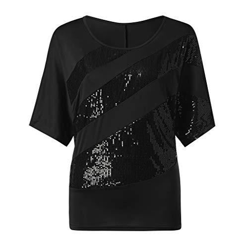 KIMODO T Shirt Top Bluse Damen Sommer Schwarz Weiß V Ausschnitt Basic Weiss mit Print Mint Gold Baumwolle Lang pink Aufdruck Ärmellos Oversize Rundhals XXL Kurzarm grün Sport braun Sexy