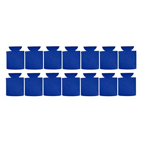 Party Favors Neopreno portátil puede enfriar la manga suave al aire libre para la cubierta de la taza de cerveza (azul, tamaño: 14pcs)