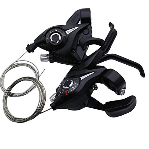 Bicicletta Velocità Shifter Leva 2pcs Leva Freno Combo 21 Velocità Shifter Set Leve Di Freno E Fit for Mountain Bike