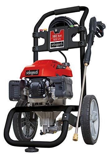 Scheppach 5907701903 Reinigungsgerät / Benzin – Hochdruckreiniger HCP 2600 | mit 5 Düsenaufsätzen, Reinigungslanze,  7,5m Hochdruckschlauch und Zuführung für Reinigungsmittel | 4-Takt Motor mit 173cm³