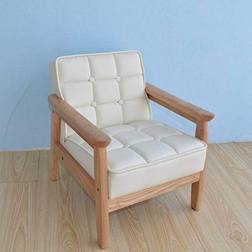 QIANSHI Sparen Sie Platz, warm und vielseitig Mid-Century Kind-Kinder Sofa, Massivholz Accent Sessel Polsterliege Jungen-Mädchen-Kind Mini Sofa- Das kleine Sofa ist weich und geeignet für aktive