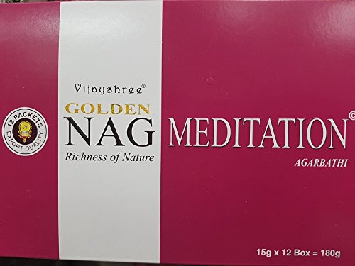 Vijayshree - Incenso Golden Nag Meditation, 12 x 15 g