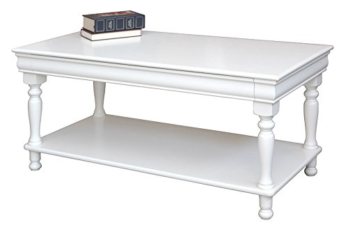 Arteferretto Table de Salon rectangulaire laquée avec étagère, Style Louis Philippe, Largeur 110 cm, avec tiroir, Produit Artisanal Italien