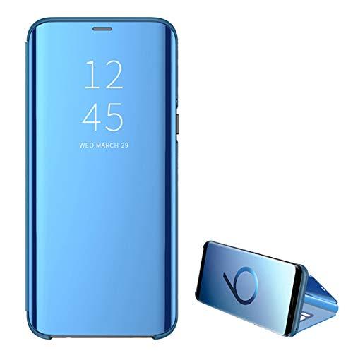 kompatibel Samsung Galaxy S6 / S6 Edge / S6 Edge Plus Hülle neueste Mirror Case Spiegel Schutzhülle PU Leder Flip Handy Case Clear View Standing Cover für Galaxy S6 / S6 Edge (S6 Edge, Blau)