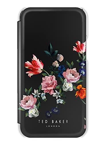 Ted Baker - Custodia a Specchio per iPhone 12/iPhone 12 PRO (2020), Compatibile con Ricarica Wireless MagSafe – Sandalwood/Black Silver