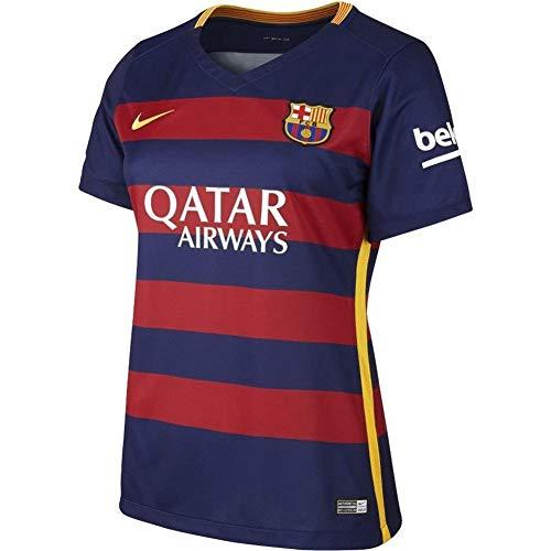 NIKE 1ª Equipación Fútbol Club Barcelona 2015/2016 - Camiseta Oficial Mujer, Color Azul/Rojo/Dorado, Talla XL
