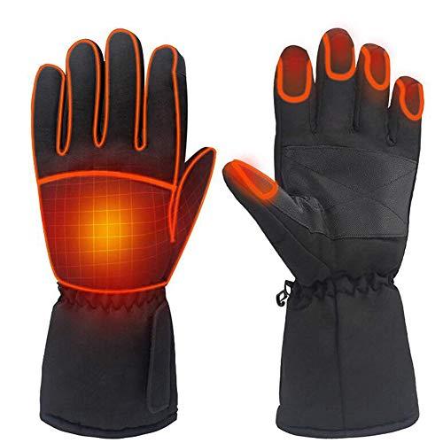 ISAKEN Guanti riscaldati ricaricabili per uomini e donne, guanti invernali riscaldanti elettrici scaldamani 3 livelli di controllo della temperatura