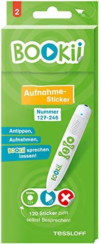 120 BOOKii® Aufnahme-Sticker neutral Paket 2, Nr. 127-246 (BOOKii / Antippen, Spielen, Lernen)