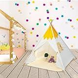 Teepee | Tienda|Tipi| Carpa para Niños con Alfombra de Felpa Carpa de Princesa Castle Hut Carpa de Juego Plegable con Alfombra de Felpa Casa de Juegos para Niños en Interiores y Exteriors