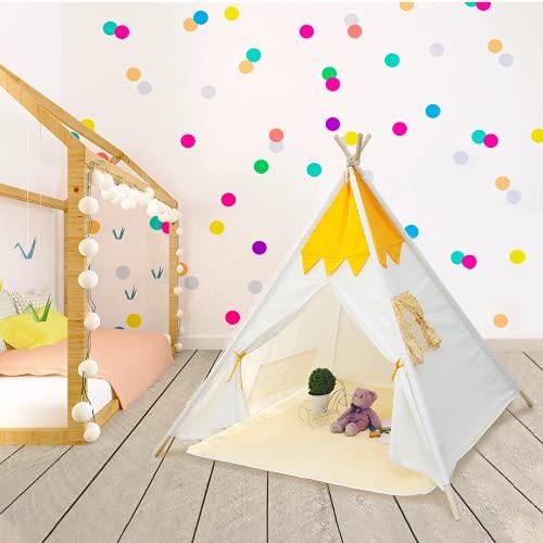 Teepee   Tienda Tipi  Carpa para Niños con Alfombra de Felpa Carpa de Princesa Castle Hut Carpa de Juego Plegable con Alfombra de Felpa Casa de Juegos para Niños en Interiores y Exteriors