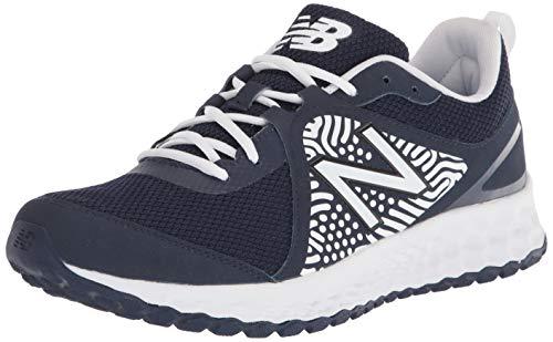 New Balance Men's Fresh Foam 3000 V5 Turf Baseball Shoe, Navy/White, 11.5