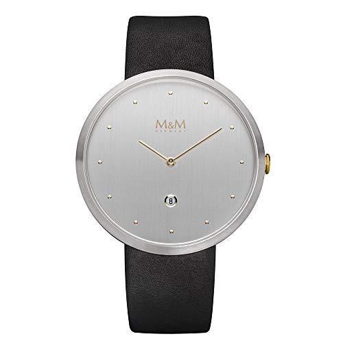 M&M Reloj Analógico para Mujer de Cuarzo con Correa en Cuero M11881-461
