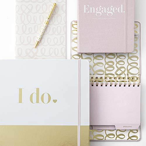 Product Image 5: Kate Spade New York Undated Wedding Planner Organizer Weekly and Monthly, Bridal Appointment Calendar Book, Engaged (Blush)