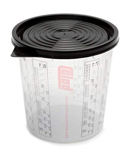 Colad 50 x Mischbecher mit Maßstab 350 ml LACK FÜLLER - Becher ohne Deckel