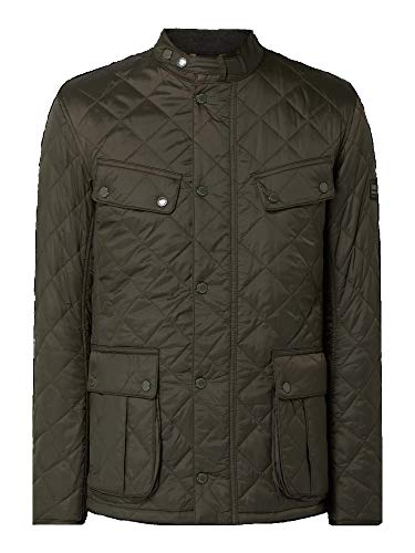 Barbour MQU1240-SG71 New International Quilted Ariel Jacket - Chaqueta acolchada impermeable para hombre, color verde oscuro Sage Dark Green L