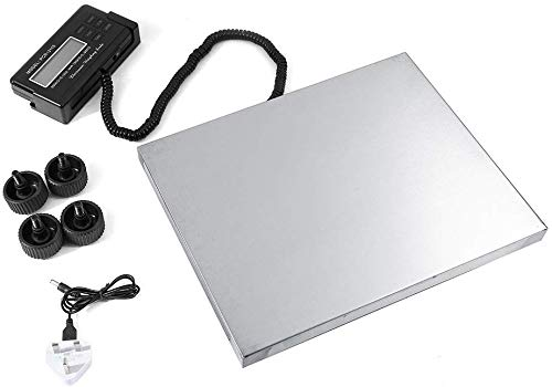 Bilancia a Piattaforma Bilancia Digitale di precisione, Bilancia Industriale Bilancia Postale, Bilancia da Tavolo LCD Display, in Acciaio Inox, 150kg x 50g, 300kg x 100g