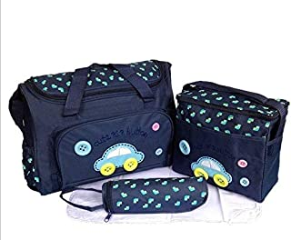 4PCS Nappy Bag Mummy Tote Handbag Waterproof Baby Diaper