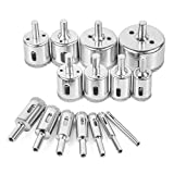 Tile Hole Saw, EVERMARKET 15 Pcs Diamond Holesaw Drill Bit Extractor Remover...