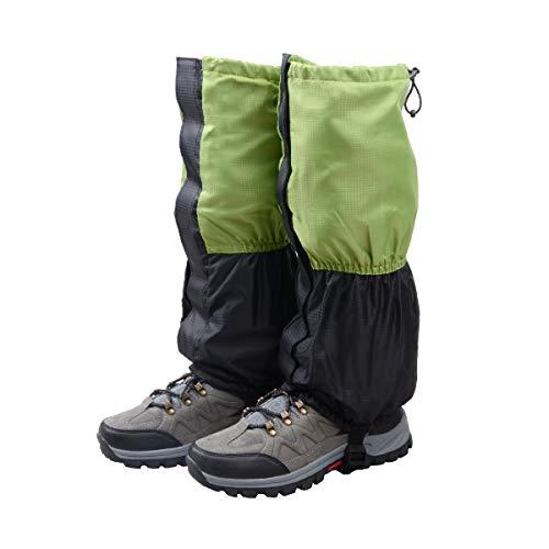 TRIWONDER Unisex Schnee Bein Gaiters Gamaschen wasserdicht Klettern Gamaschen Wandern Jagd Radsport Leggings Bezug (1 Paar) (Grün & Schwarz - Kind)