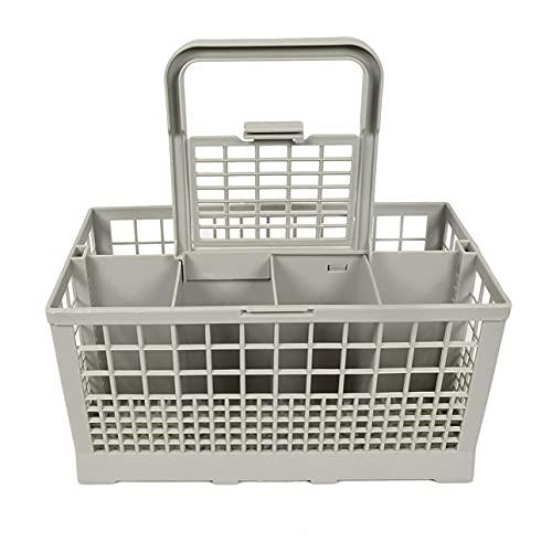 Cesta de cubiertos universal para lavavajillas, cuadrada, ligera, portátil, de plástico reforzado resistente al calor