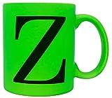 vanVerden Neon Taza – Letra Z – Letra del alfabeto – Impresión por ambos lados – Idea de regalo taza de café, color verde neón