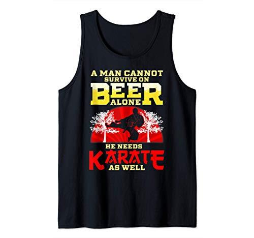 Uomo Divertenti sport di arti marziali amanti karate della birra Canotta
