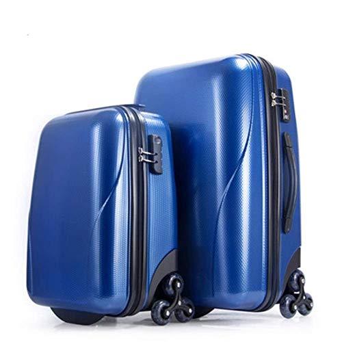 RTRD Maleta de 18 Pulgadas Maleta Maleta Bolsa de Viaje Hombres Contraseña Cabina Tronco Duro 22 Pulgadas Rolling Equipaje Spinner Trolley, Azul, 22'