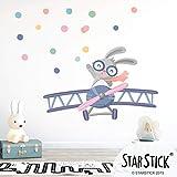 Vinilos infantiles decorativos - Avioneta con conejito - T0- Basico