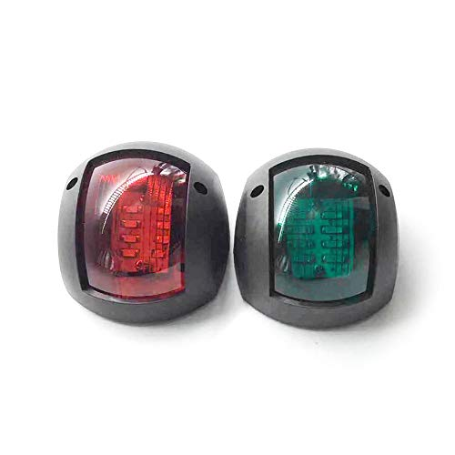 Rood Groen LED Marine Navigatielicht 12V 24V Boot Booglicht Marine Boot Singnaal Licht, Perfect voor Ponton, Skeeter, Motorboot en Skiff One Pair